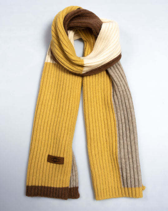 Color Block Knit Scarf