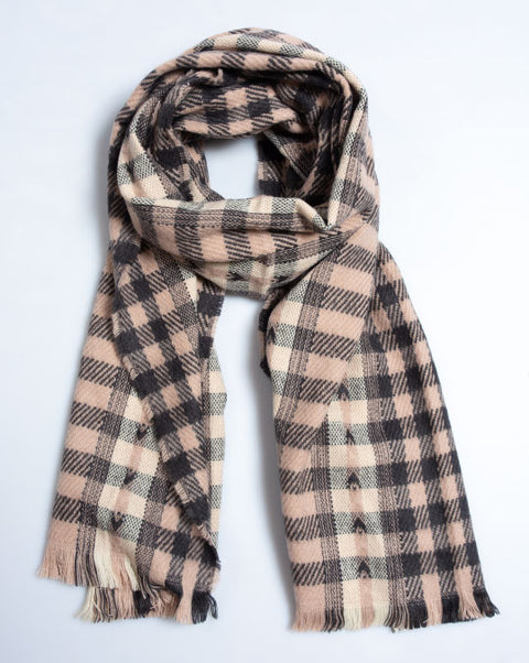 Heart Check Blanket Scarf