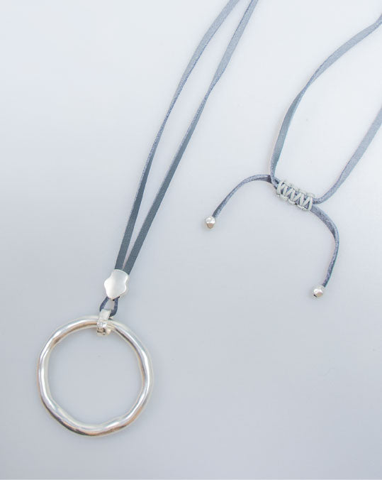Silver Ring Pendant Necklace