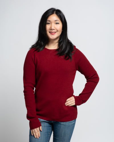 Raglan Sleeve Pullover - Red