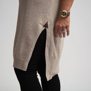 Sleeveless Sweater Dress - Beige