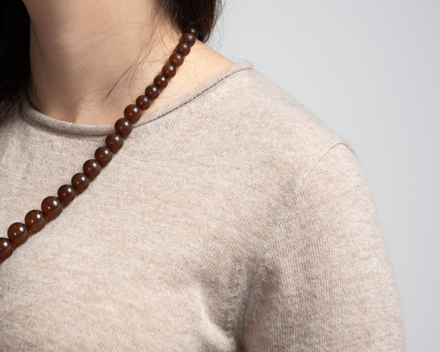 Basic Knit Pullover - Tan