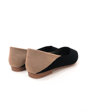 THE KNITTED POINT SLIP-ON IN BLACK/TAN