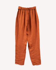 Conica Tapered Linen Pant in Baked Clay