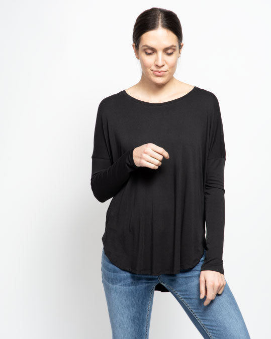 THE CORE MODAL LONG SLEEVE IN BLACK