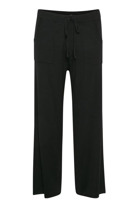 En_route Cotton Trouser - Black
