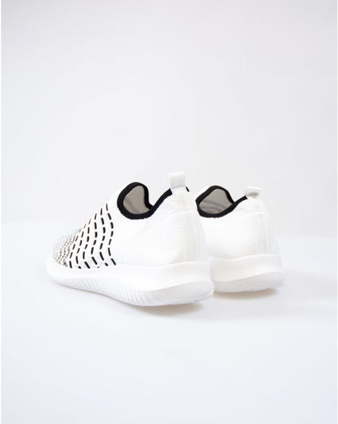 KNITTED SOCK SNEAKER in WHITE/BLACK