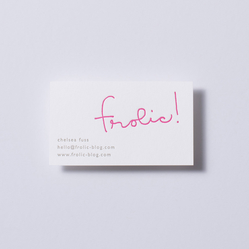 Frolic! Business Card
