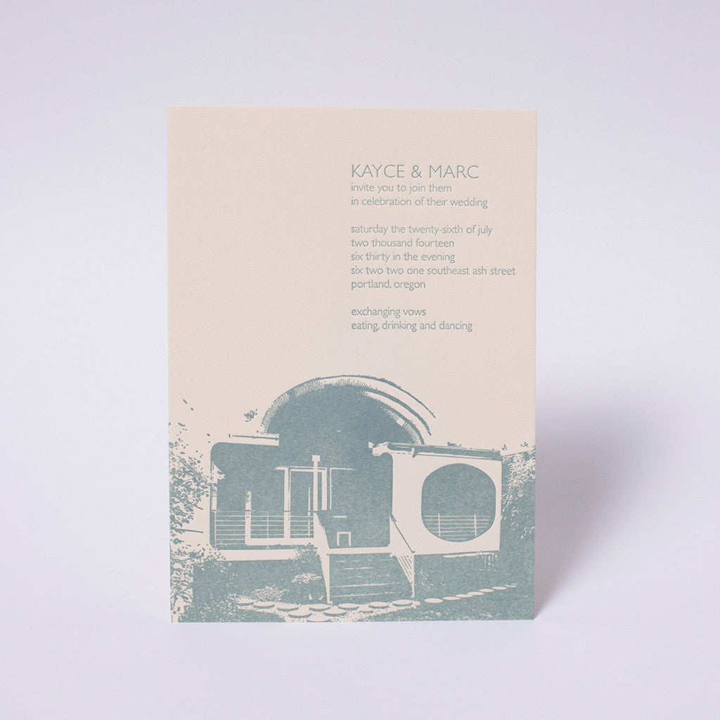 Kayce and Marc Wedding Invitation
