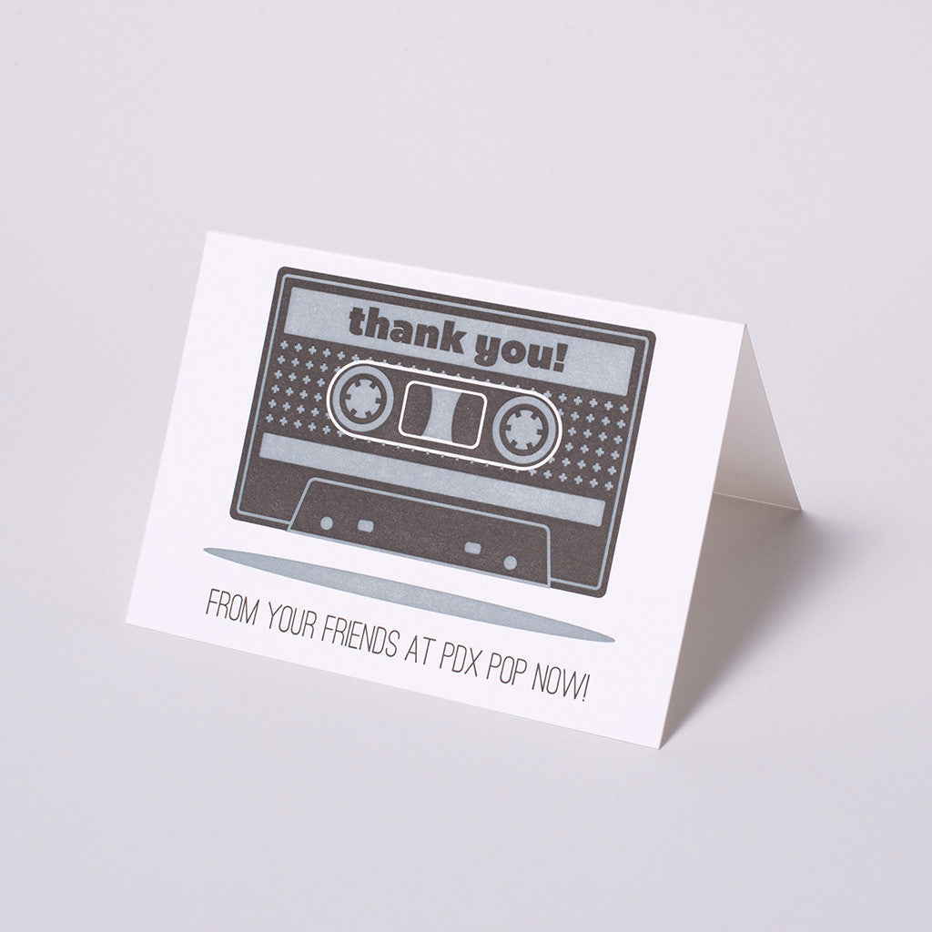 PDX Pop Now! Thank You Card