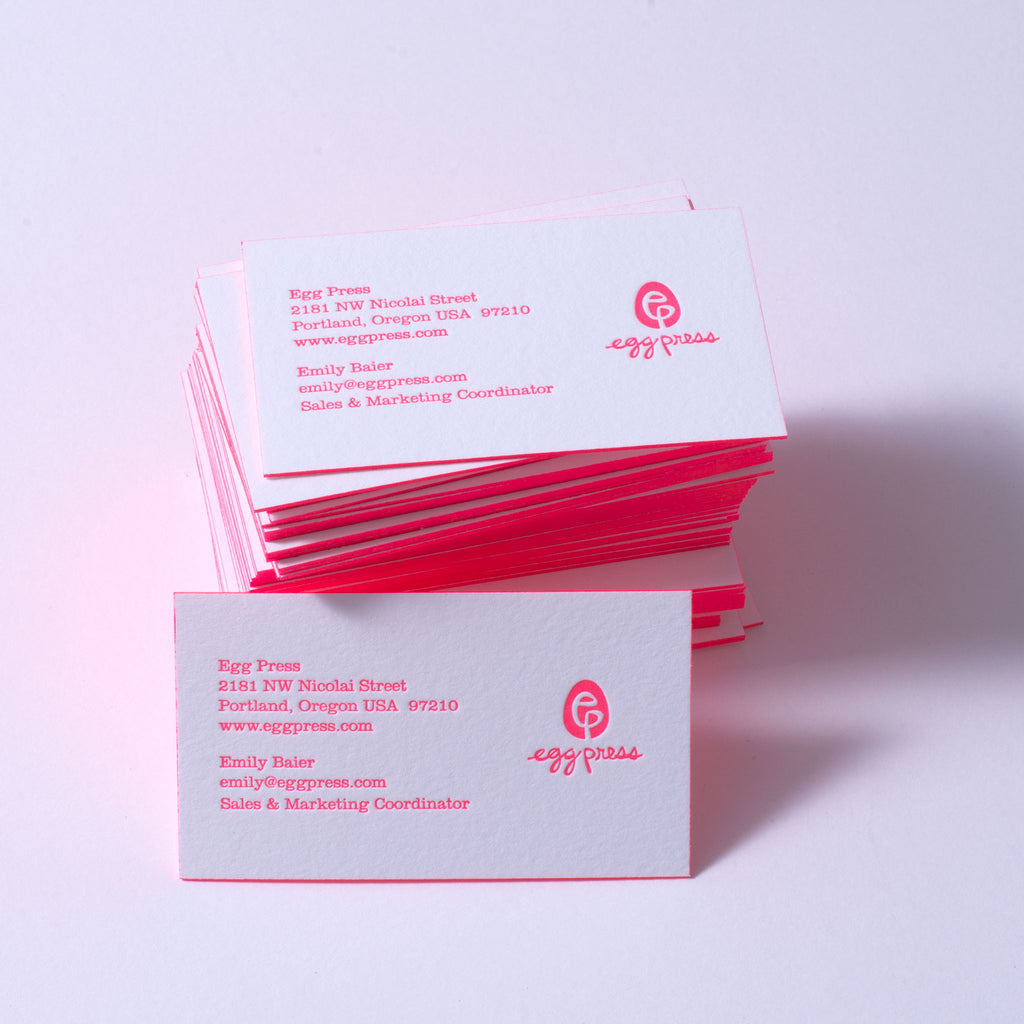 Egg Press Business Cards