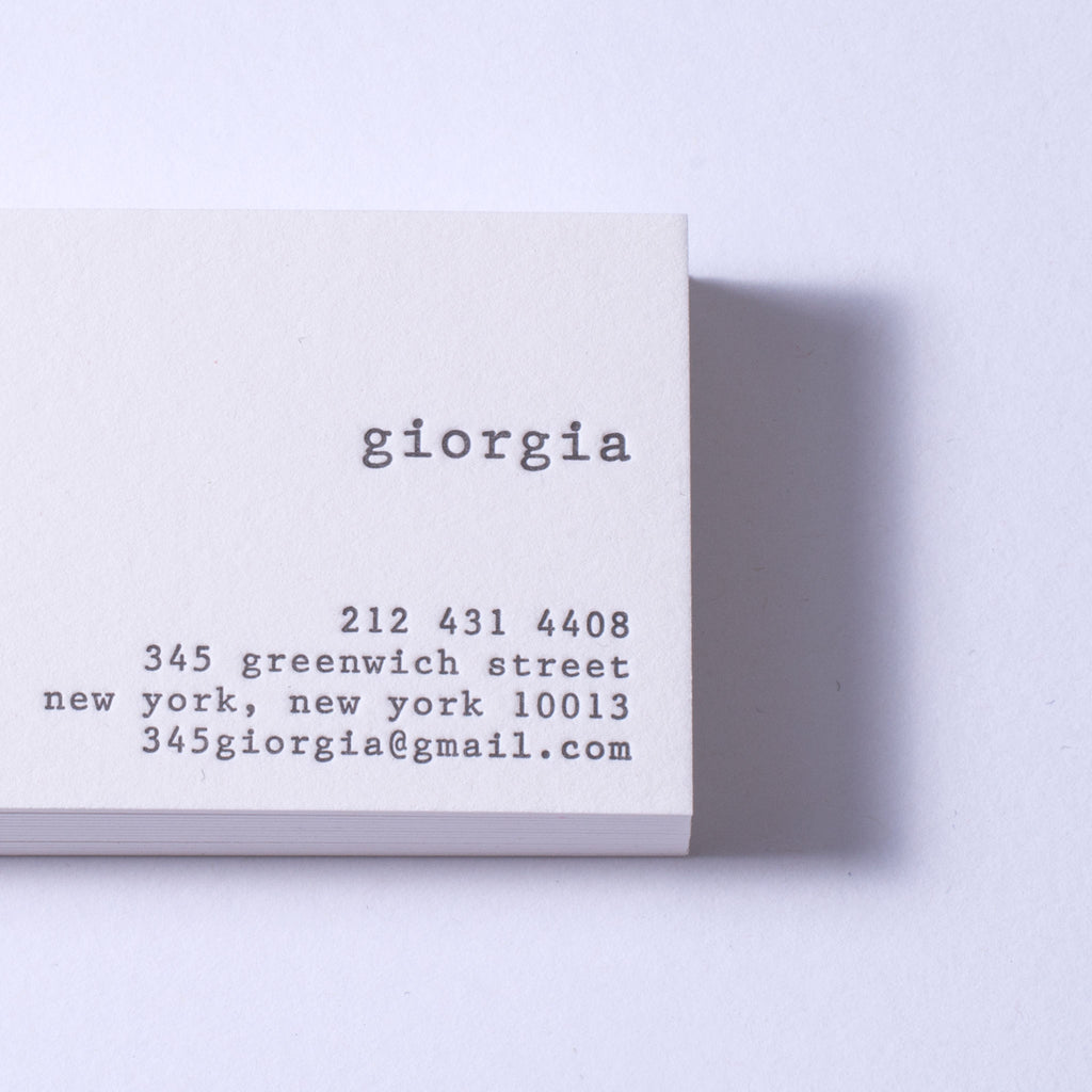 Giorgia Business Cards