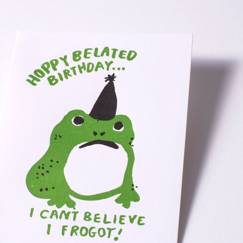 hoppy belated frog