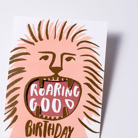 roaring good birthday lion