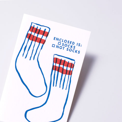 socks gift card
