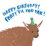 birthday yak