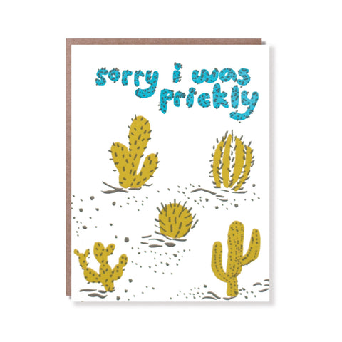 prickly sorry