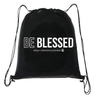 Godly Creations Clothing's Be Blessed Christian Drawstring Bag