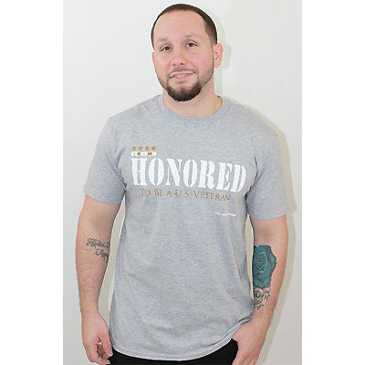 Godly Creations Clothing's Men's Honored to be a US Veteran Christian T Shirt