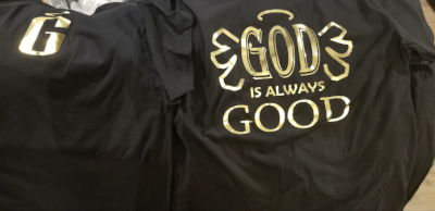 God Is Always Good Book and T Shirt Package. Obtain knowledge to start your own t shirt brand and also strengthen your faith all in one purchase!