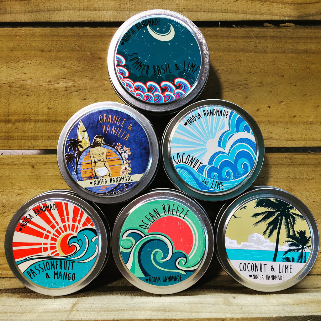 Vintage Surf Tin Candles - Noosa Handmade
