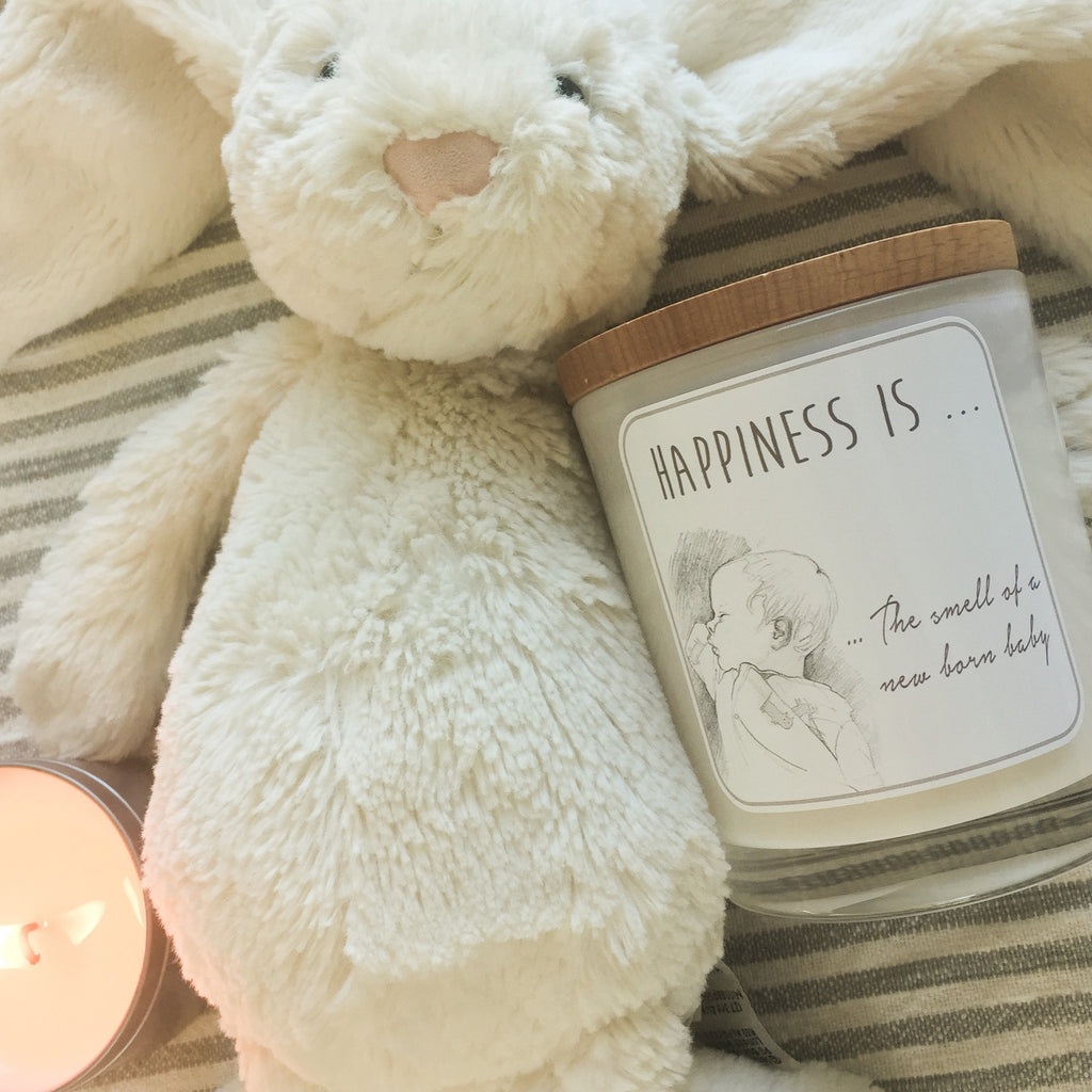 BABY Candle - Happiness Is - Noosa Handmade