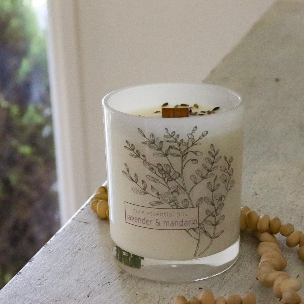Secret Garden Essential Oil Jar Candle - Lavender - Noosa Handmade