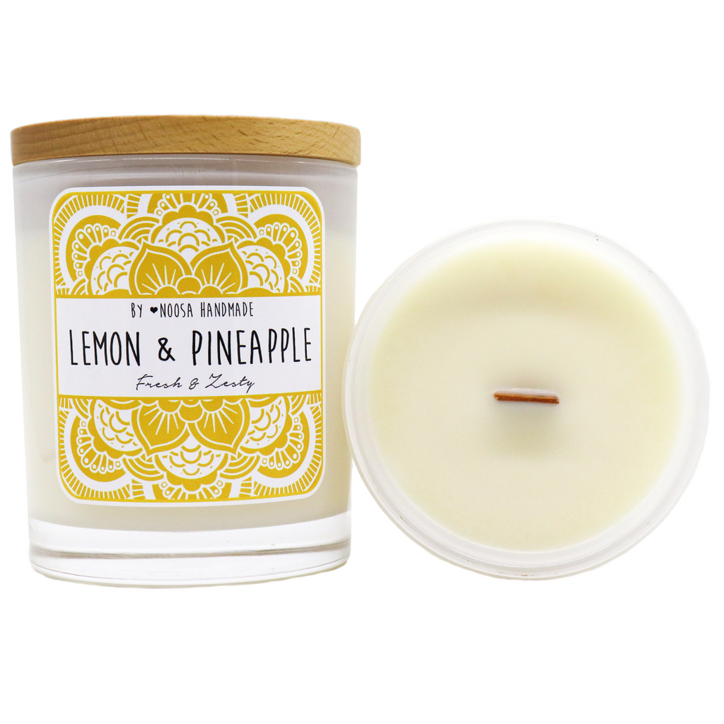 Senses Jar Candles - Lemon & Pineapple - Noosa Handmade