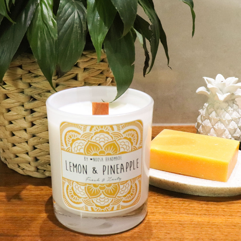 Senses Jar Candles - Lemon & Pineapple