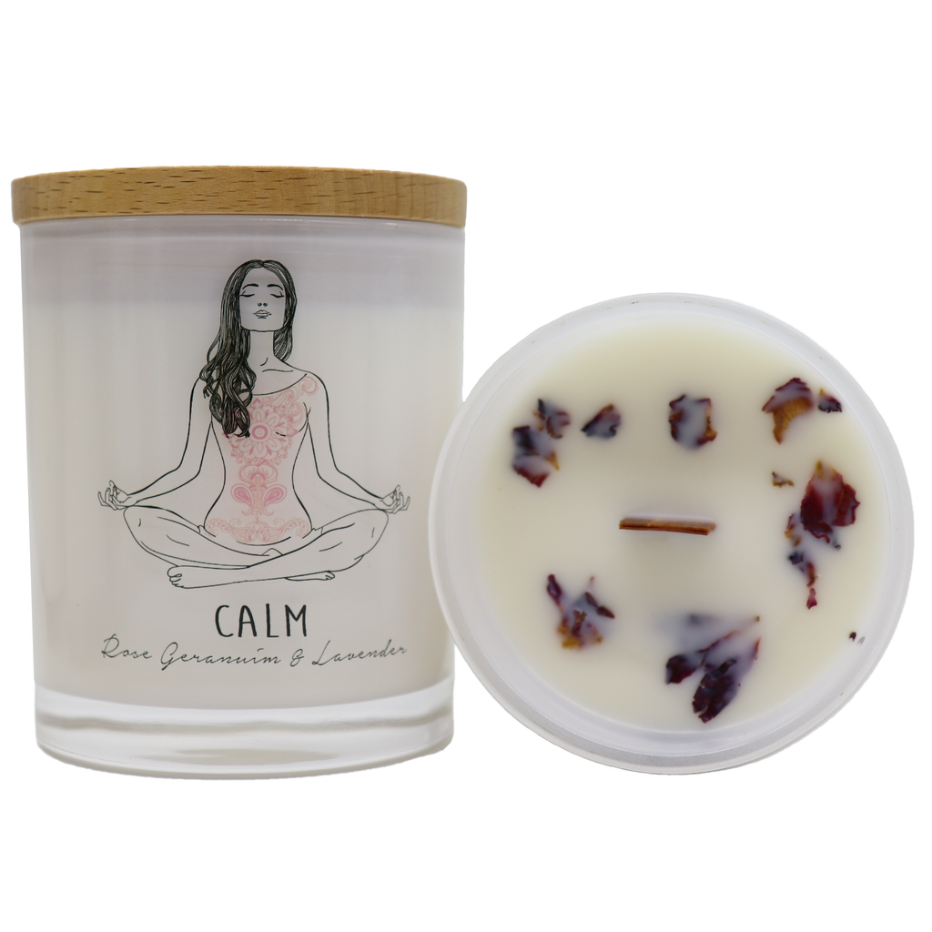 Yoga Candle Aromatherapy Rose