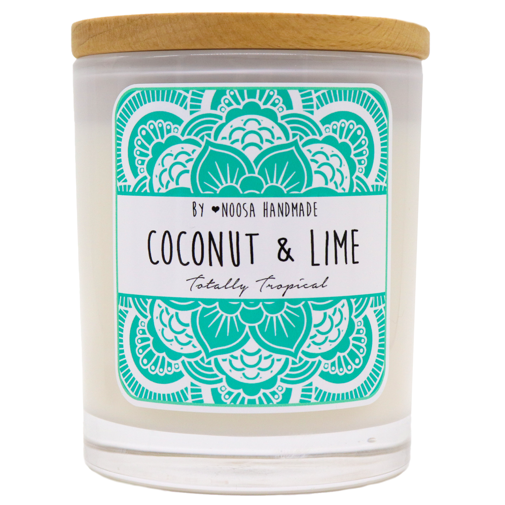 Senses Jar Candles - Coconut & Lime - Noosa Handmade