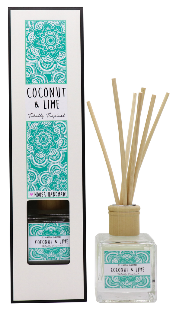 Senses Reed Diffuser - Coconut & Lime - Noosa Handmade