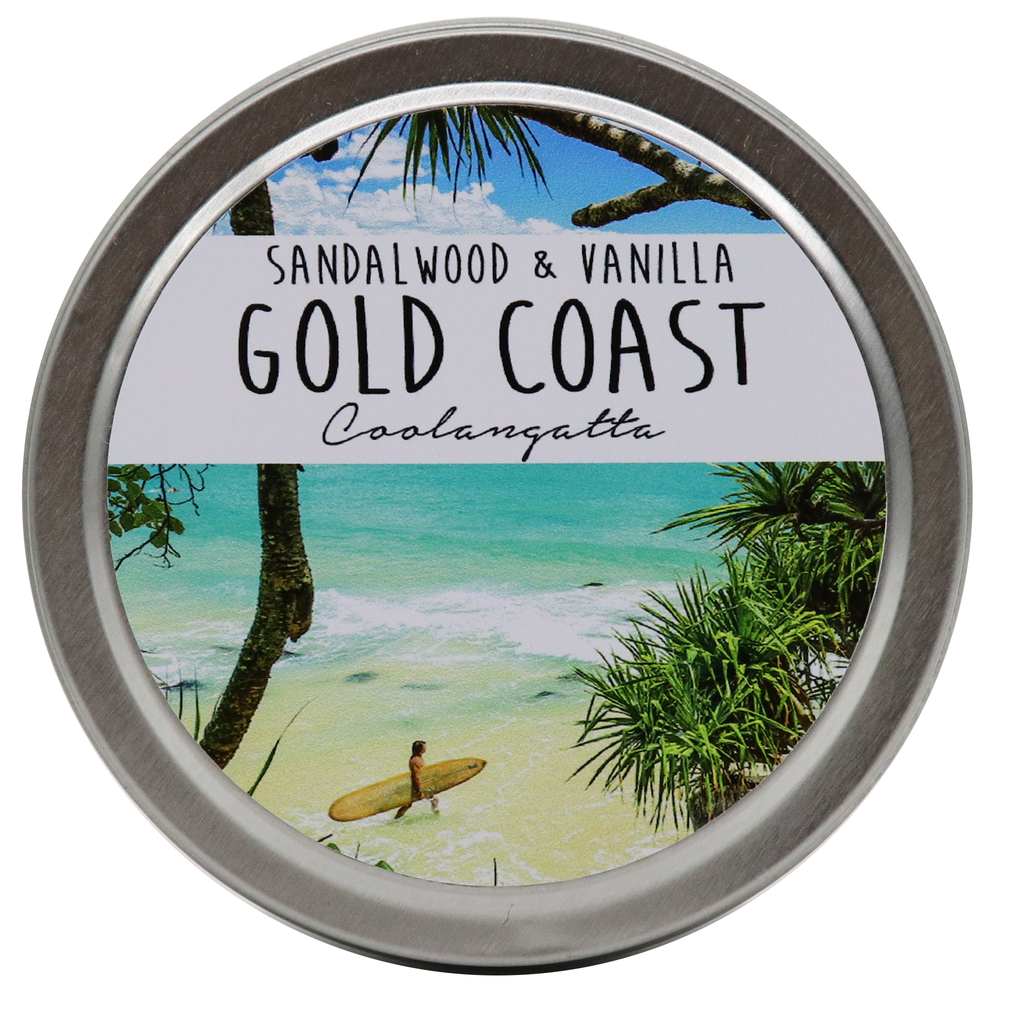 GOLD COAST - Coolangatta Tin Candles - Noosa Handmade