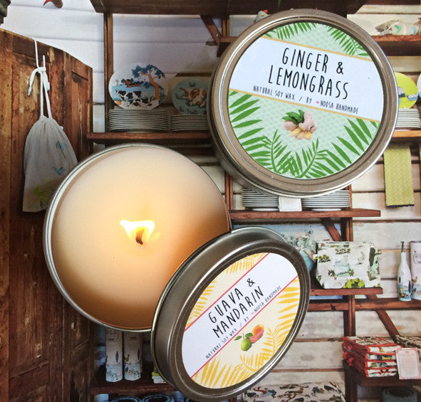Basis Tin Candle - Noosa Handmade