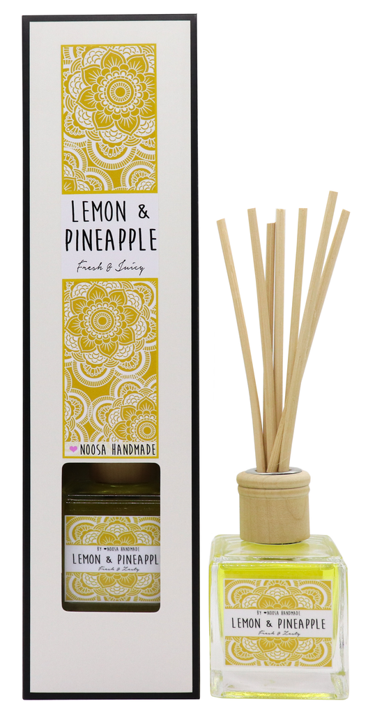 Senses Reed Diffuser - Lemon & Pineapple - Noosa Handmade