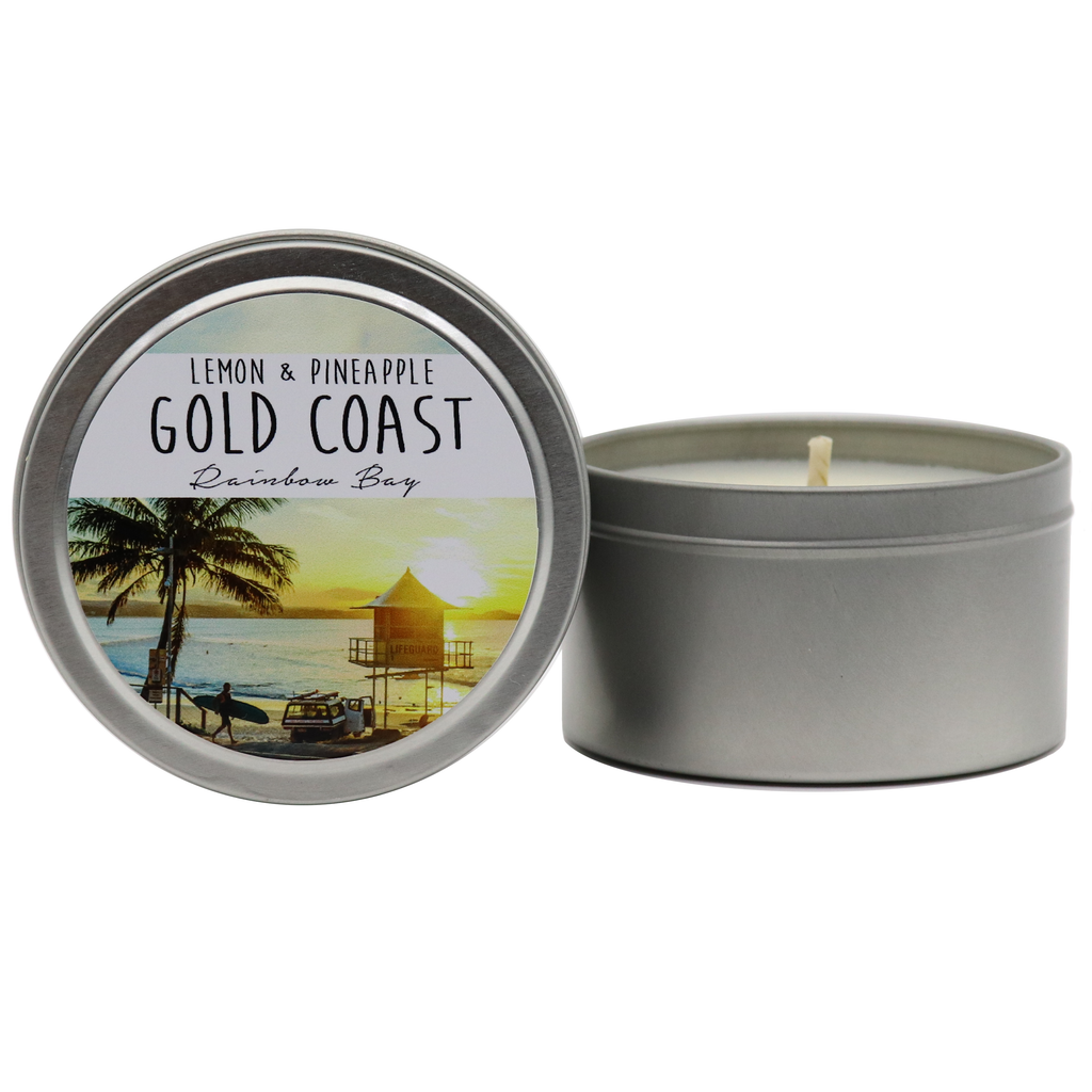 GOLD COAST - Rainbow Bay Tin Candles - Noosa Handmade