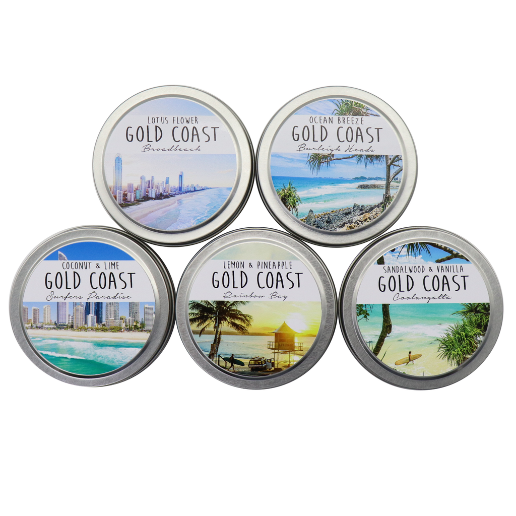 GOLD COAST - Burleigh Heads Tin Candles - Noosa Handmade