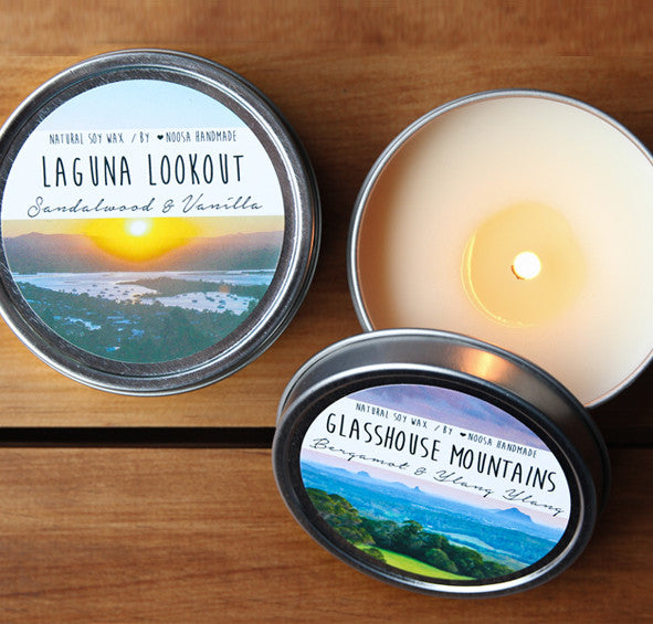 Sunshine Coast Tin Candle - Noosa Handmade