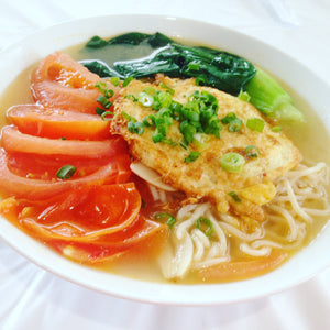 Noodle Soup with Fried Tomato & Egg