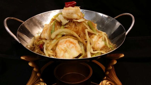 Dry Pot Shrimp with Rich Noodles