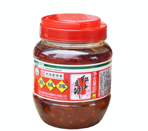 Juan Cheng Broad Bean Chili Paste with Chil Oil - (1st Grade ) 17.6oz 鹃城一级红油豆瓣500克