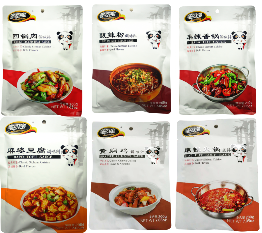 Spicy Element Variety Cooking Sauce Collection Set (Package of 6 Flavors) 综合6袋调味料组