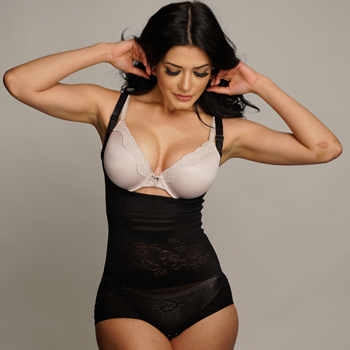 c05691d5d7c07 Nylon and Spandex Shaping Body Suit – Hourglass Express