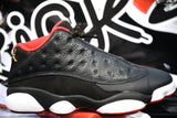 "AIR JORDAN 13 RETRO LOW ""BRED"" (WORN)"