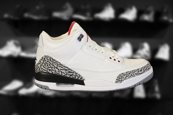"WHITE CEMENT AIR JORDAN 3 RETRO ""2011 RELEASE"" VNDS USED"