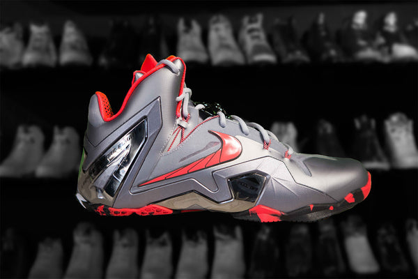 "NIKE LEBRON 11 ELITE TEAM ""WOLF GREY/LSR CRMSN"""