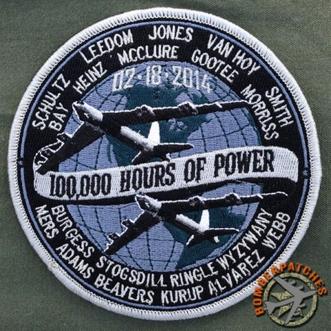 307th Bomb Wing, 93d and 343d BS B-52H World Record Setting Commemorative Patch