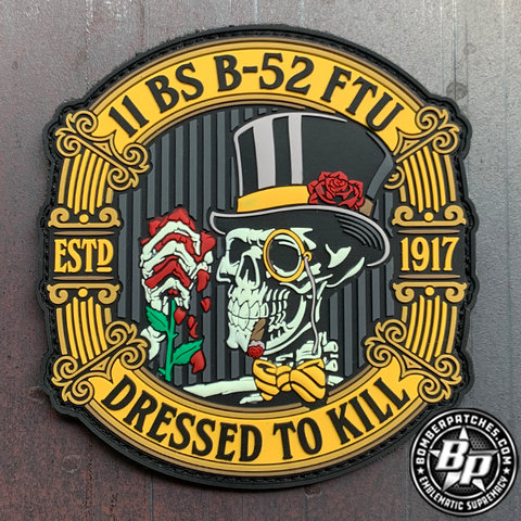 "11th Bomb Squadron B-52 FTU ""Dressed To Kill"" Friday Patch, Glow PVC"
