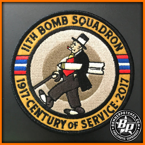 11th BOMB SQUADRON 100TH ANNIVERSARY PATCH, B-52 STRATOFORTRESS, BARKSDALE AFB