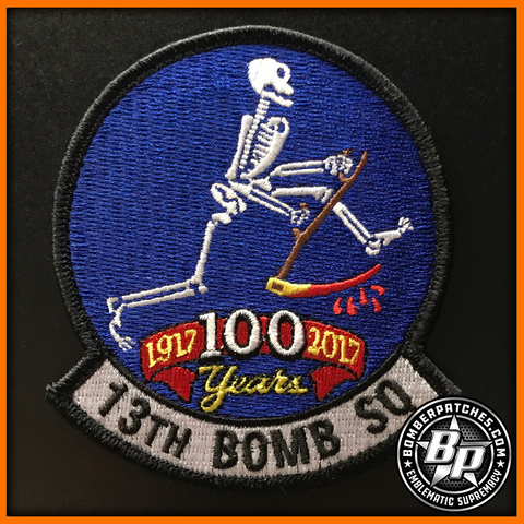 13TH BOMB SQUADRON 100TH ANNIVERSARY PATCH, B-2 SPIRIT, WHITEMAN AFB